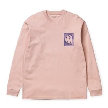 Carhartt WIP Long Sleeve Foundation T-shirt - Powdery/Blue