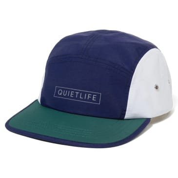 QUIET LIFE Colorblock 5 Camper Hat Navy/Green