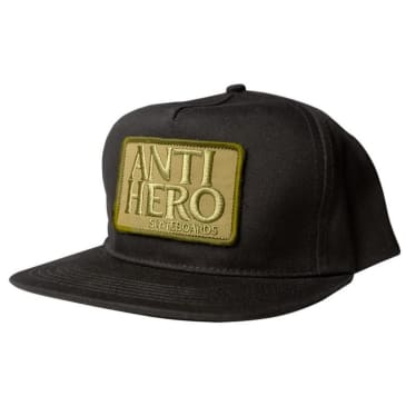 Anti Hero Reserve Patch Black/Olive Snapback Cap