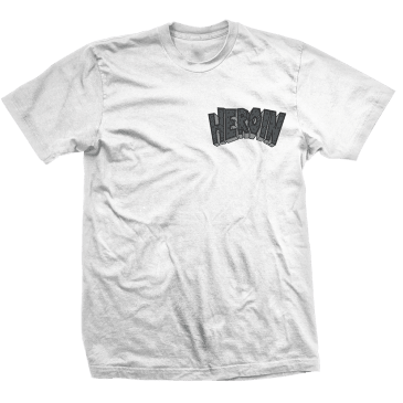 Heroin Skateboards Curb Crusher T-Shirt - Grey