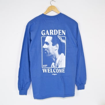 Welcome x Garden Skateboards - Dave Longsleeve T-Shirt - Blue