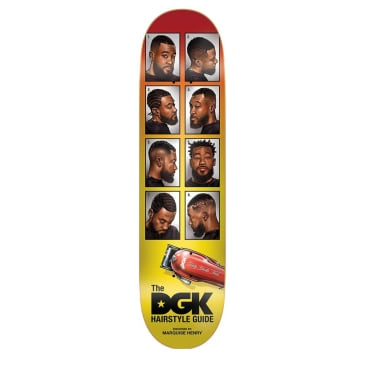 "DGK Barbershop Quise Skateboard Deck - 8.1"""