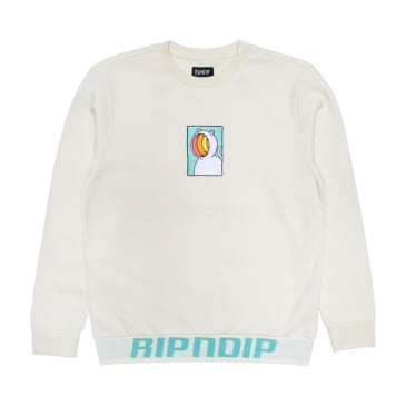 Ripndip - Rip N Dip Open Mind Crewneck Sweater | Natural