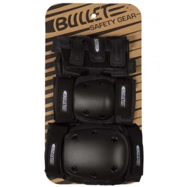 Bullet - Combo Deluxe Pad Set - Black - Youth