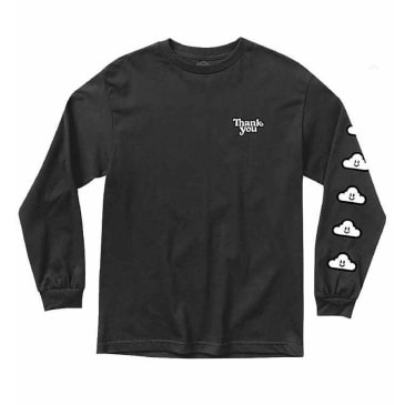 Thank You - Cloudy Long Sleeve Tee - Black