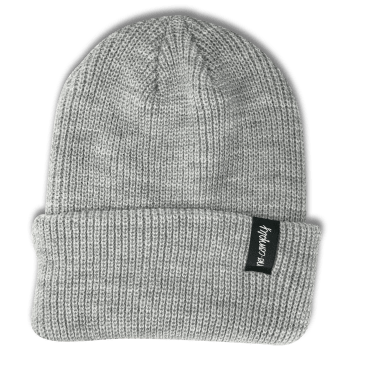 No-Comply Script Beanie Light Grey