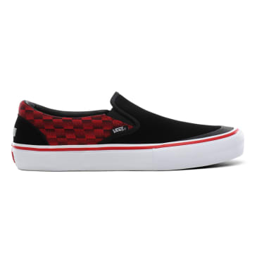Vans x Baker Slip On Pro Skateboard Shoes - Rowan/Speed Check