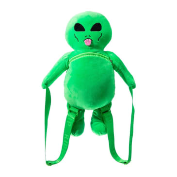Rip N Dip Lord Alien Plush Backpack - Green