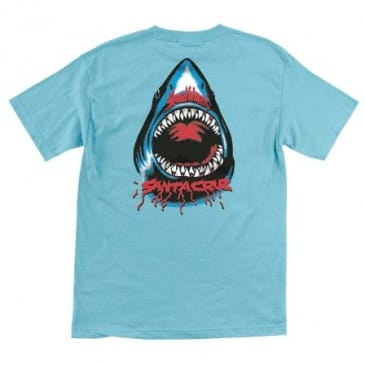 Santa Cruz - Speed Wheels Shark Shirt (Blue)