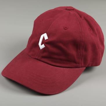 Chrystie 'Small C' 6 Panel Dad Hat (Maroon)