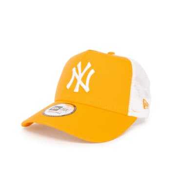 New Era League Essential New York Yankees 9FORTY Trucker Cap - Yellow