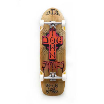 Dogtown Big Boy Complete Skateboard Brown Stain - 9.375 x 32.675