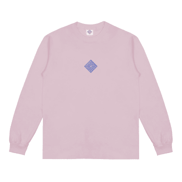 The National Skateboard Co. Classic Text Long Sleeve T-Shirt - Pink