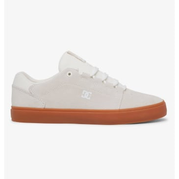 DC Hyde S Leather Skate Shoes - White / Gum
