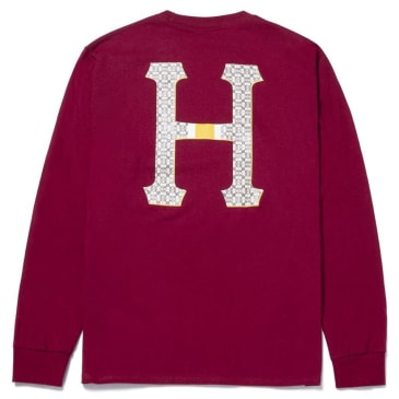 HUF Monogram Classic H Long Sleeve T-Shirt - Brick