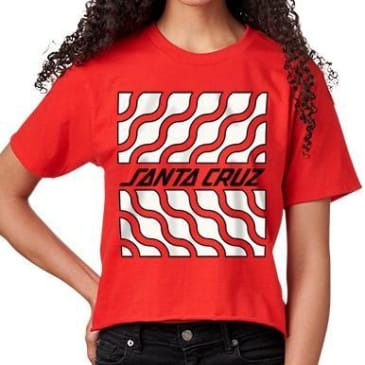 Santa Cruz Women's Flux Crop Boyfriend T-Shirt - Red