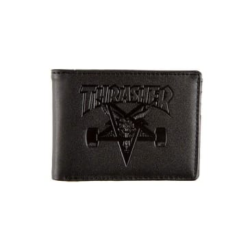 Thrasher Skategoat Leather Wallet Black