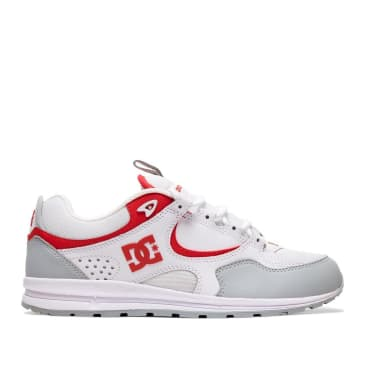 DC Kalis Lite SE Skate Shoes - White / Grey / Red