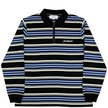Yardsale Dolores Quarterzip Polo - Black / Navy / Yellow