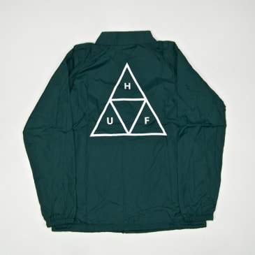 Huf - Essentials Triple Triangle Coach Jacket - Botanical Green