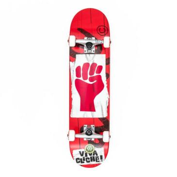 """Cliche - 7.875"""" Viva Complete Skateboard - Red"""