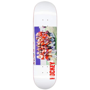 Hockey Cheerleader White Skateboard Deck - 8.18""