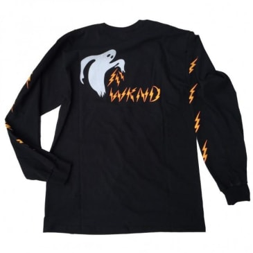 WKND Ghost Bolts Long Sleeve T-Shirt - Black