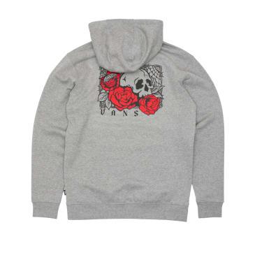 Vans Rose Bed Hooded Sweatshirt - Cement Heather
