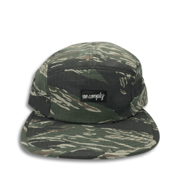 No-Comply 5 Panel Volley Hat Tiger