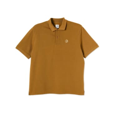 Polar Skate Co Polo Shirt - Golden Brown