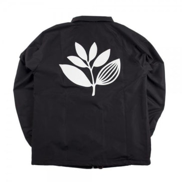Magenta Nylon Plant Windbreaker - Black