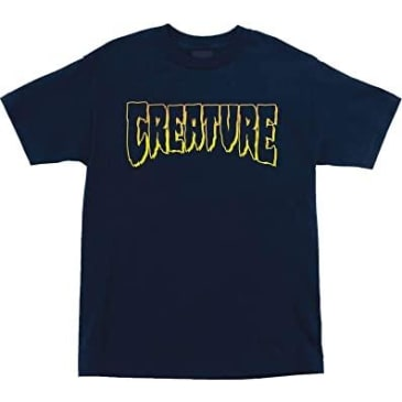 Creature - Logo Outline SS Navy Medium