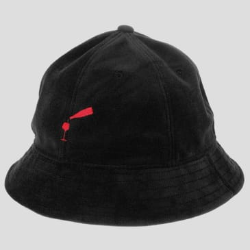 "PASS~PORT ""WINE~TIME"" FELT BUCKET CAP BLACK"