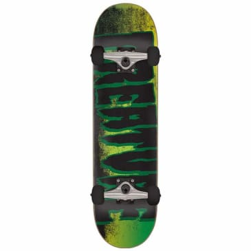 "Creature Logo Scan Complete Skateboard Black/Green - 7.75"""
