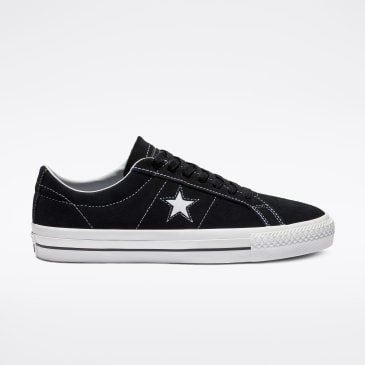 Converse Cons One Star Pro Shoes - Black/White/White