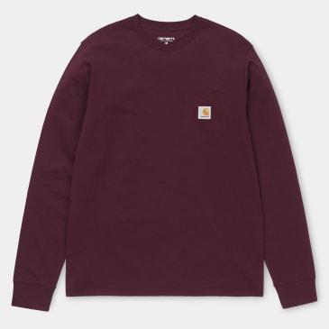 Carhartt WIP Long Sleeve Pocket T-Shirt Mulberry