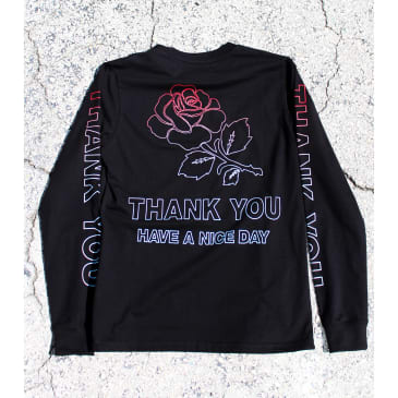 "CHINATOWN MARKET - ""THANK YOU LONG SLEEVE T- SHIRT "" (BLACK)"