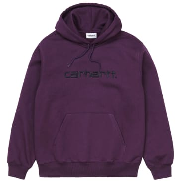 Carhartt WIP Hooded Carhartt Sweatshirt - Boysenberry / Black