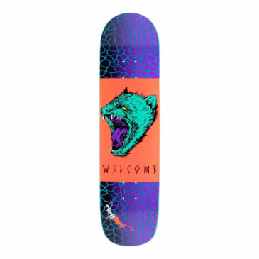 Welcome Skateboards Tasmanian Angel on Bunyip Skateboard Deck Black / Purple - 8""
