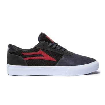 Lakai x Chocolate Manchester Skate Shoes - Grey / Reflective Suede