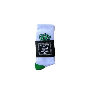 always do what you should do - white / green @sun sock