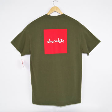 Chocolate Skateboards - Square T-Shirt - Military Green