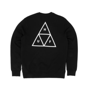 Huf Triple Triangle Crew Sweatshirt - Black