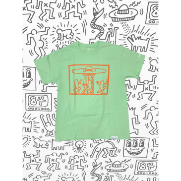 DIAMOND X HARING SPACESHIPS TEE - MINT