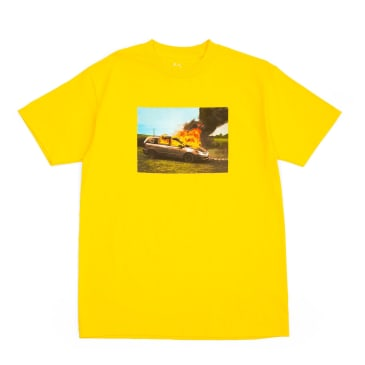 WKND Van On Fire T-Shirt - Yellow