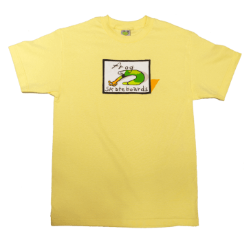 Frog Skateboards Classic Logo T-Shirt - Yellow