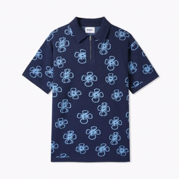 Butter Goods Flower Zip Polo