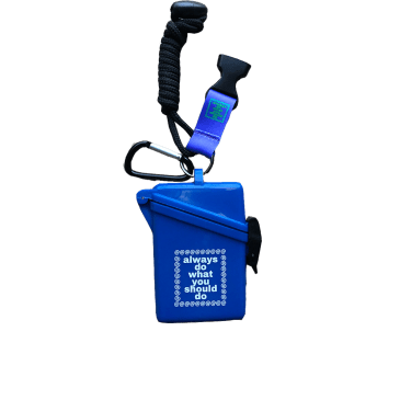 always do what you should do - blue lanyard case