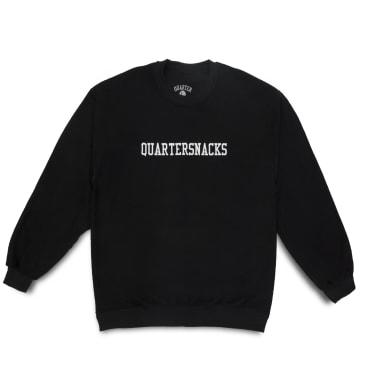 Quartersnacks Inside Out Embroidered Crewneck - Black