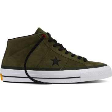 CONVERSE ONE STAR PRO MID - HERBAL GREEN BLACK WHITE